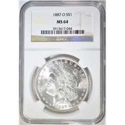 1887-O MORGAN DOLLAR  NGC MS-64