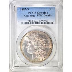 1885-S MORGAN DOLLAR  PCGS GENUINE