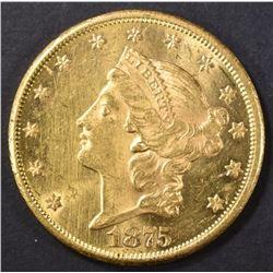 1875-CC $20 GOLD LIBERTY HEAD  BU