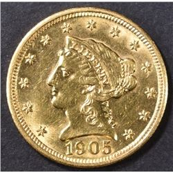 1905 $2.5 GOLD LIBERTY HEAD  BU