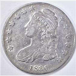1836 BUST HALF DOLLAR  AU/BU LETTERED EDGE
