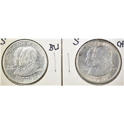 2-1923-S MONROE COMMEM HALF DOLLARS BU & CH AU