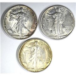 1-1945-S, 2-1944-S WALKING LIBERTY HALF