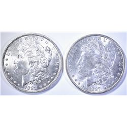 2 1887 MORGAN DOLLARS CH BU