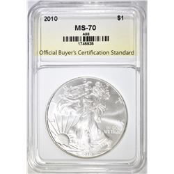2010 AMERICAN SILVER EAGLE PERFECT GEM