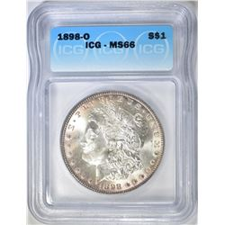 1898-O MORGAN DOLLAR  ICG MS-66