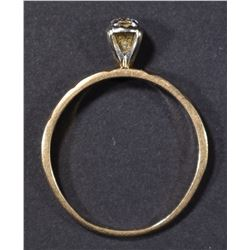 14K DIAMOND SOLITAIRE RING  SIZE 7 1/2