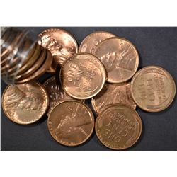 BU 1950 LINCOLN CENT ROLL