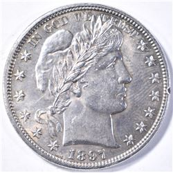 1897 BARBER HALF DOLLAR CH BU++ FLASHY