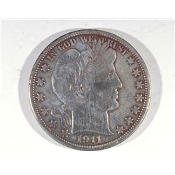 1911 BARBER 1/2 DOLLAR VF