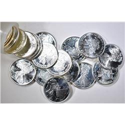 20 1/10 OZ BU LIBERTY SILVER COINS