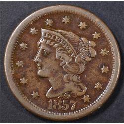 1857 LARGE CENT  AU
