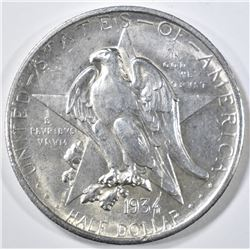 1934 TEXAS COMMEM HALF DOLLAR   BU