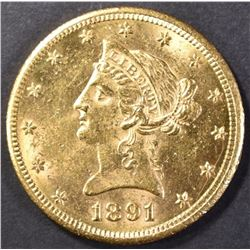 1891-CC $10.00 GOLD CH BU NICE