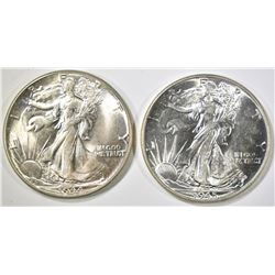 1944 & 45 WALKING LIBERTY HALVES  CH BU