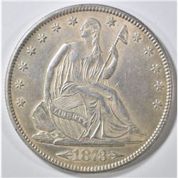 1873 ARROWS SEATED LIBERTY HALF DOLLAR  BU