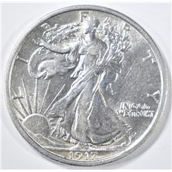 1917-D REVERSE WALKING LIBERTY HALF DOLLAR  AU/BU