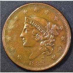 1838 LARGE CENT  AU