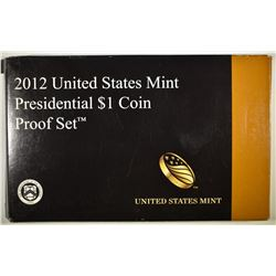 2012 U.S. PRESIDENTIAL DOLLAR PROOF SET