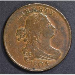 1804 HALF CENT XF
