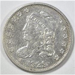 1829 BUST HALF DIME AU