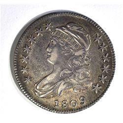1809 CAPPED BUST HALF DOLLAR AU