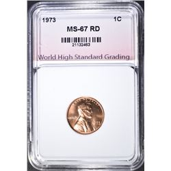 1973 LINCOLN CENT, WHSG SUPERB GEM BU RED
