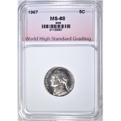 1967 SMS JEFFERSON NICKEL, WHSG SUPERB GEM BU+