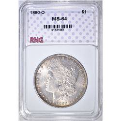 1880-O MORGAN DOLLAR, RNG CH/GEM BU