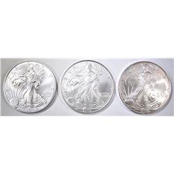 2005, 06 & 2014 BU AMERICAN SILVER EAGLES