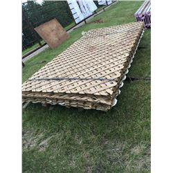 Skid Of 8' By 4' Lattice Sheets (~45 Pieces)