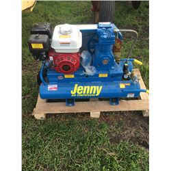 Brand New Jenny Dual Tank Air Compressor W/ Honda GX Engine, 200 Model, Gas, Choke, on/off switch, P