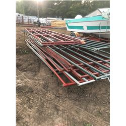 Large Stack of Gates, asst colours and sizes (ranging from 6' -16')