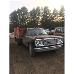 1 ton Dodge, 4 speed, standard, gas, 12' box w/ hoist, good runner,