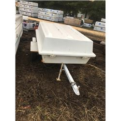 6' fold up trailer, white