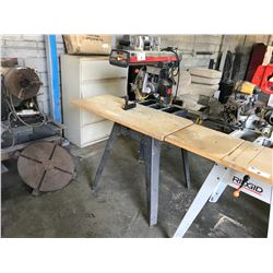 "CRAFTSMAN 10"" RADIAL ARM SAW WITH RIDGID GUARD & CROSSCUT BLADE"