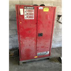 RED JUSTRITE SUREGRIP EX RMO9934E 60 GAL LIQUID STORAGE CABINET
