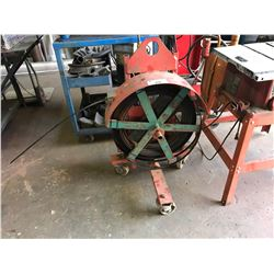 RED MOBILE BANDING CART WITH BANDING & TOOLS