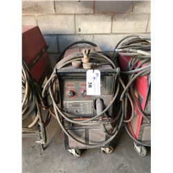 LINCOLN POWER MIG 350MP MOBILE MULTI PROCESS WELDER WITH STINGER, CABLES & HOSES