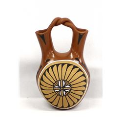 Native American Jemez Pottery Vase by J. Andrew