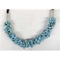 Southwestern Turquoise Nugget Choker Necklace