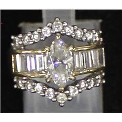 Elegant 10K CZ Ring, Size 5.5