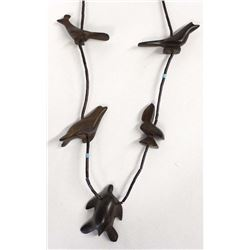Fabulous Carved Ironwood Fetish Necklace