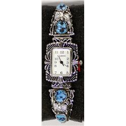Navajo Sterling Turquoise Watch Band