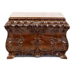 Beautiful Chinese Carved Camphor Wood Chest