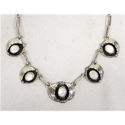 Navajo Sterling Mother of Pearl Necklace