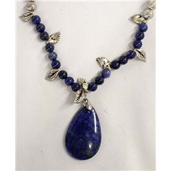 Lapis Bead and Pendant Necklace