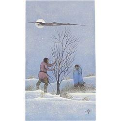 Framed Native American Creek-Seminole Print