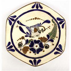Mexican Tonala Pottery Plate