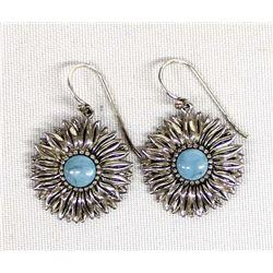 Southwestern Sterling Flower Earrings
